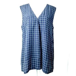 Theory Noble Grid V-neck Top
